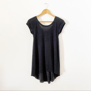 Lululemon Heathered Black Split Back Be Me Tee